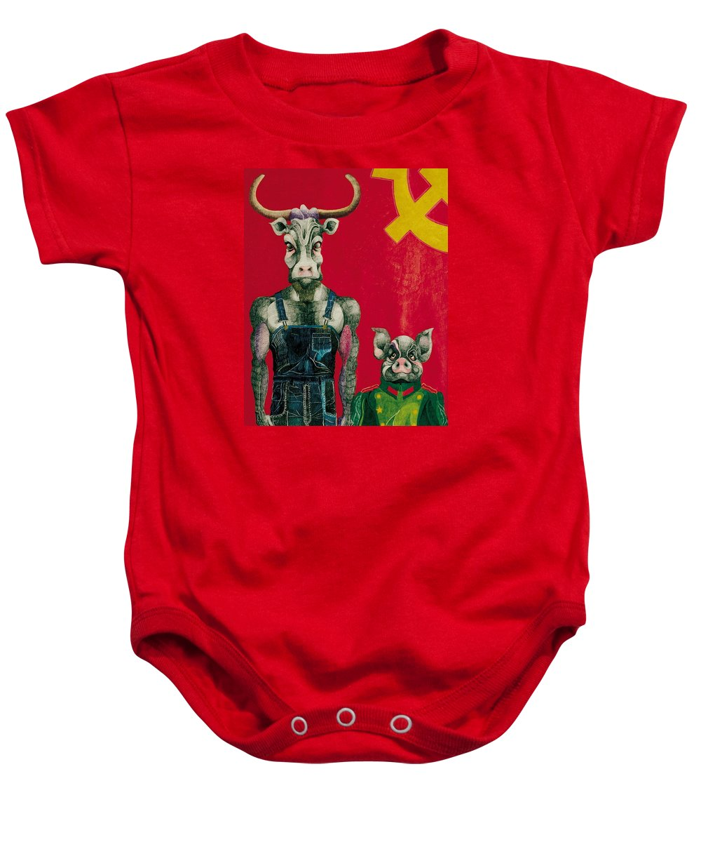 Animals Baby Onesie featuring the drawing Civil Union by Nelson F Martinez