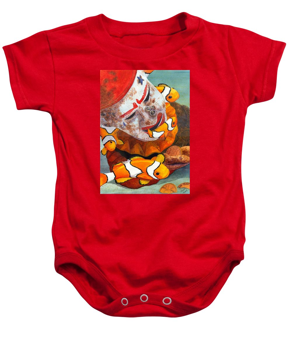 Clown Baby Onesie featuring the painting Clown Fish by Catherine G McElroy