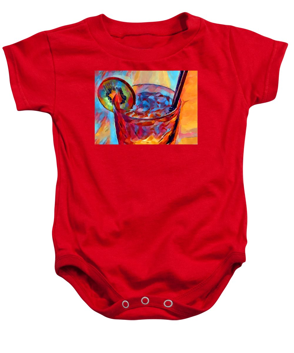 Cocktail Baby Onesie featuring the painting Cocktail Watercolor by Chris Butler