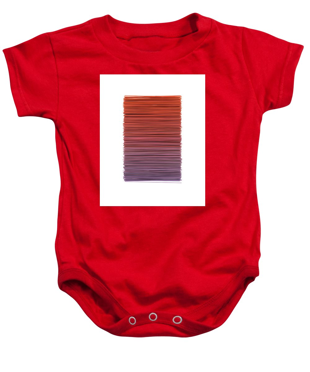 Abstract Baby Onesie featuring the digital art Color And Lines 3 by Scott Norris