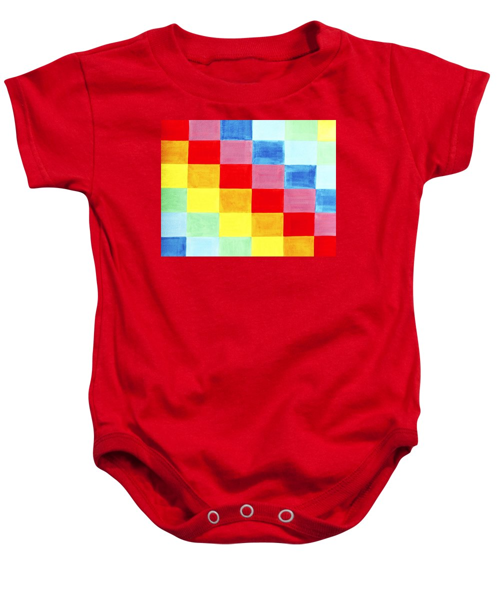 Abstract Baby Onesie featuring the painting Color Flag by Lee Serenethos