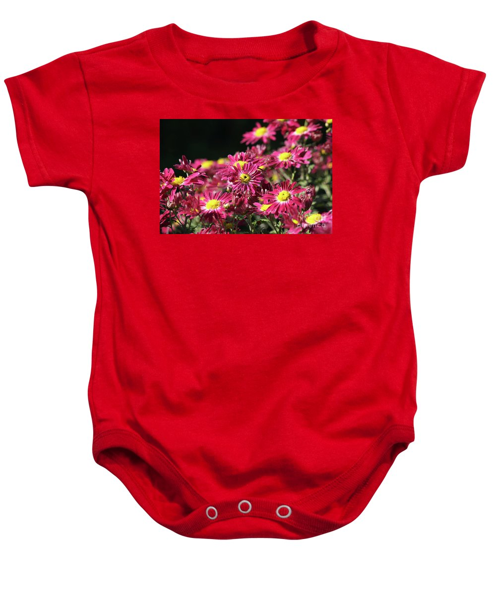 Nature Baby Onesie featuring the photograph Colorful Flowers by Goce Risteski