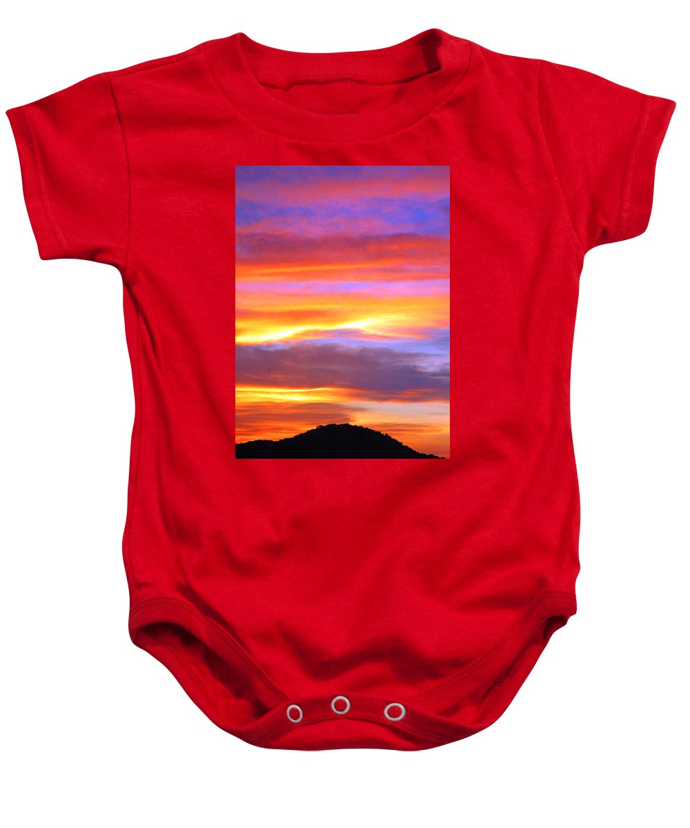 Sunsets Baby Onesie featuring the photograph Colorful Sunset by Robert Anschutz