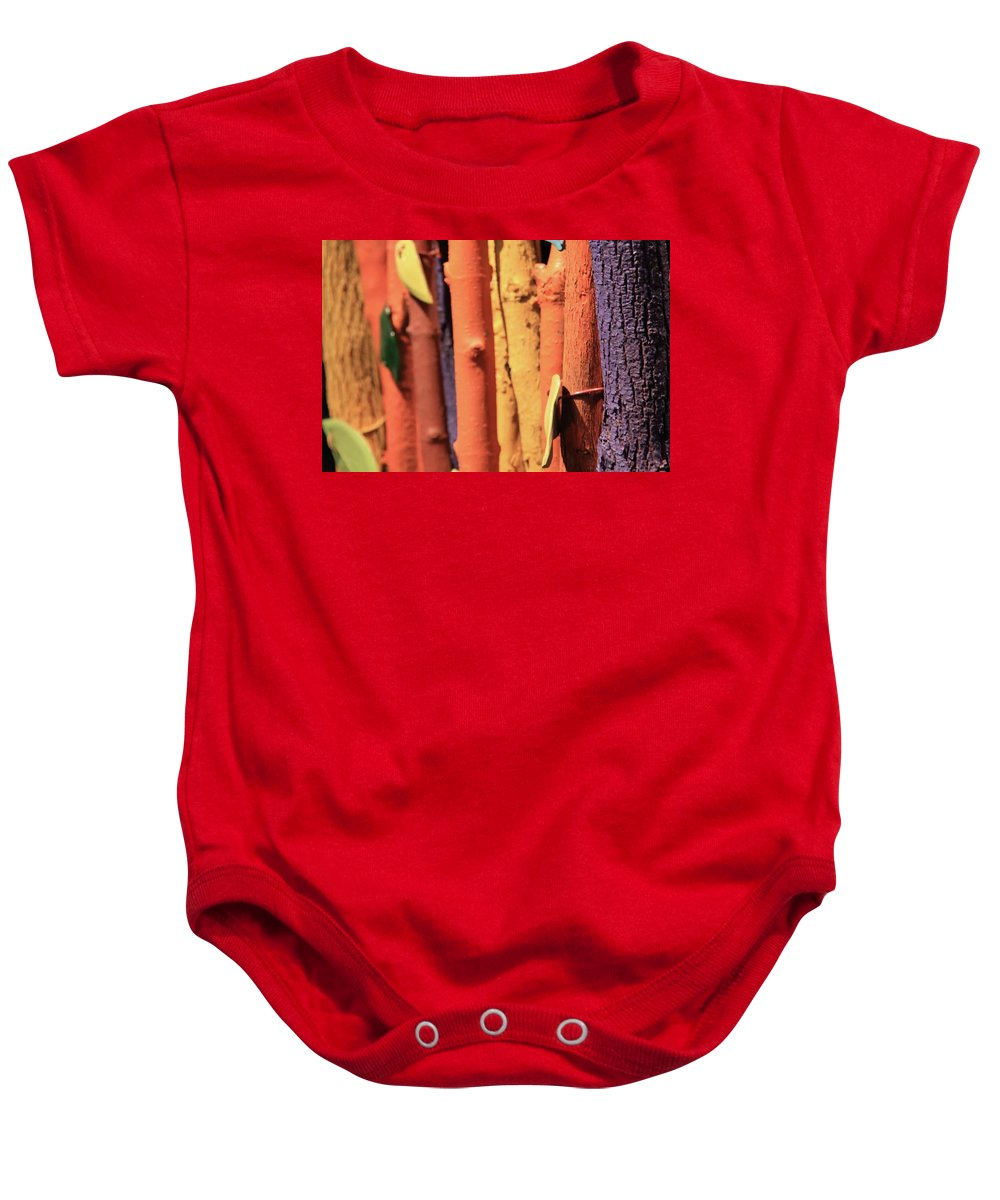 Trees Baby Onesie featuring the photograph Colorful Trees by Nicole Dunkelberger