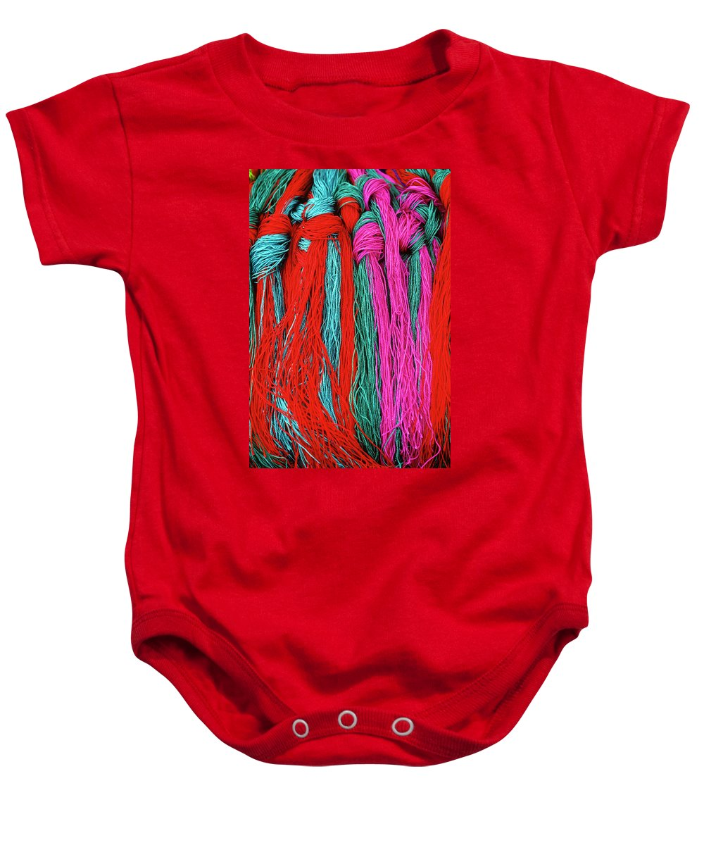 Tibet Baby Onesie featuring the photograph Colors Of Tibet by Michele Burgess