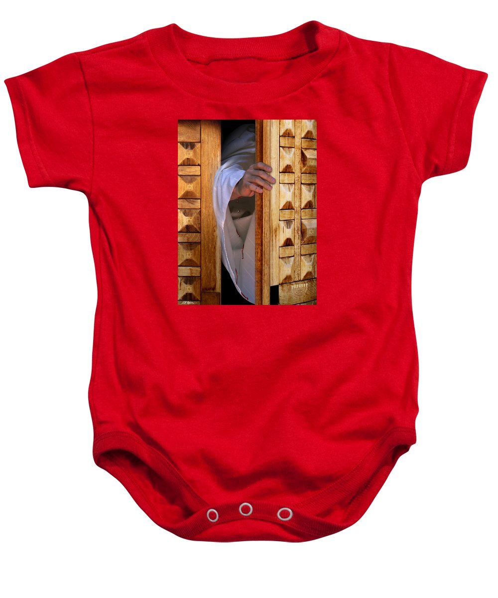Christ Baby Onesie featuring the digital art Come by Barbara Stephens