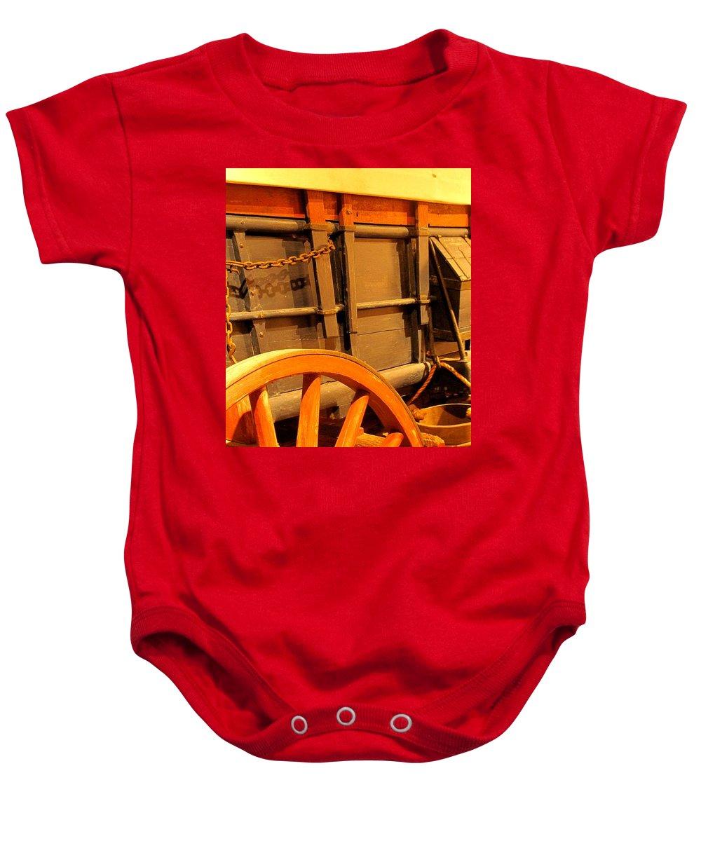 Conestoga Baby Onesie featuring the photograph Conestoga by Ian MacDonald