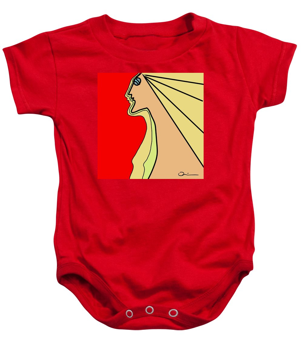 Woman Baby Onesie featuring the digital art Connection by Jeff Quiros