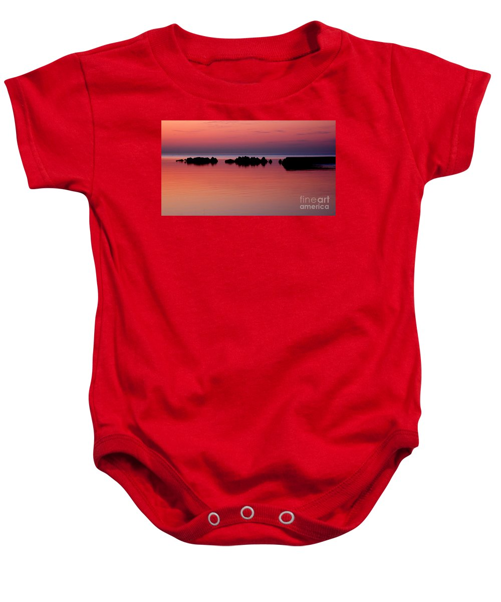 Barrier Baby Onesie featuring the photograph Cracking Dawn by Joe Ng