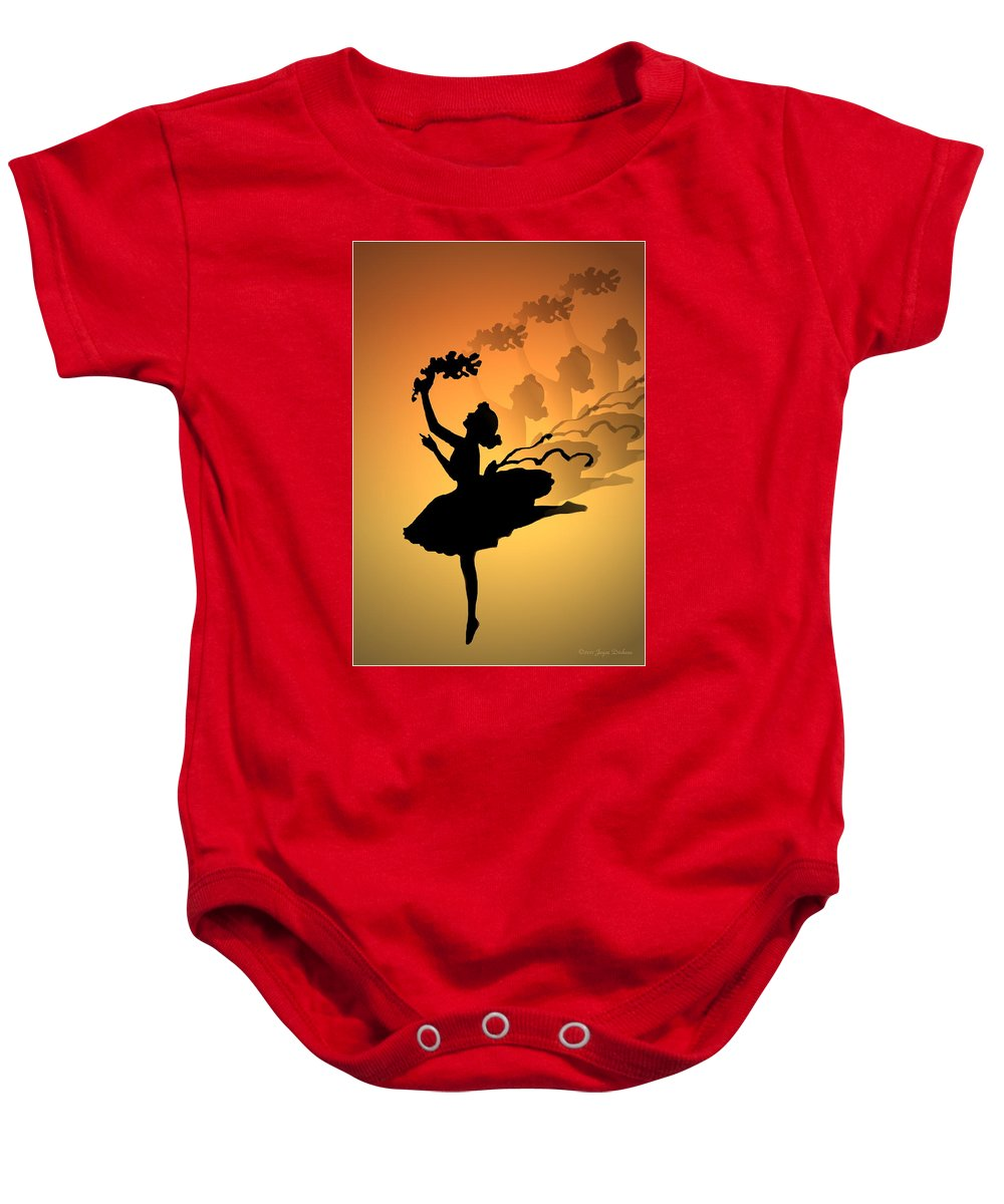 Curtain Call Baby Onesie featuring the photograph Curtain Call by Joyce Dickens