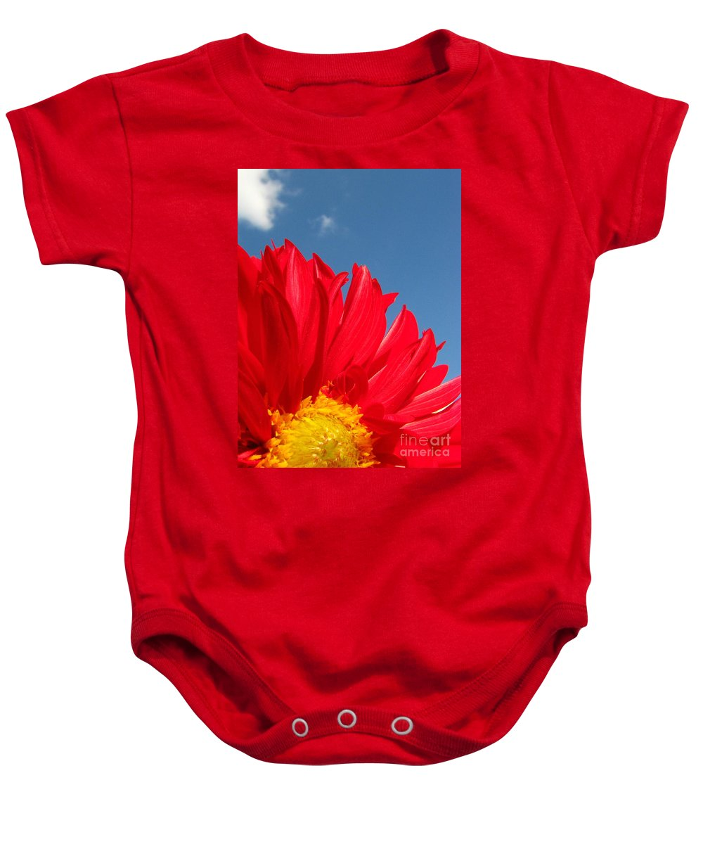 Dahlia Baby Onesie featuring the photograph Dahlia by Amanda Barcon