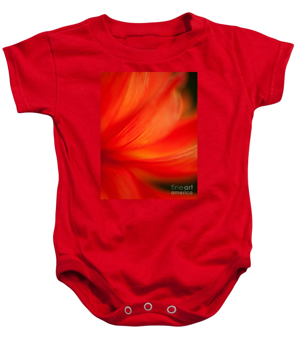 Dahlia Baby Onesie featuring the photograph Dahlia On Fire by Mike Reid