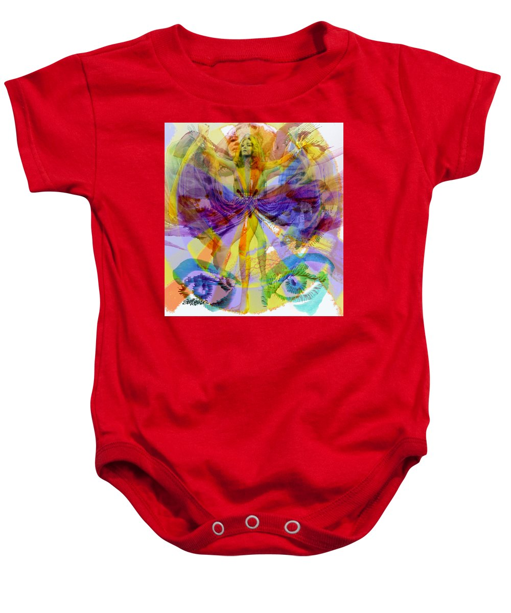 Dance Of The Rainbow Baby Onesie featuring the digital art Dance Of The Rainbow by Seth Weaver