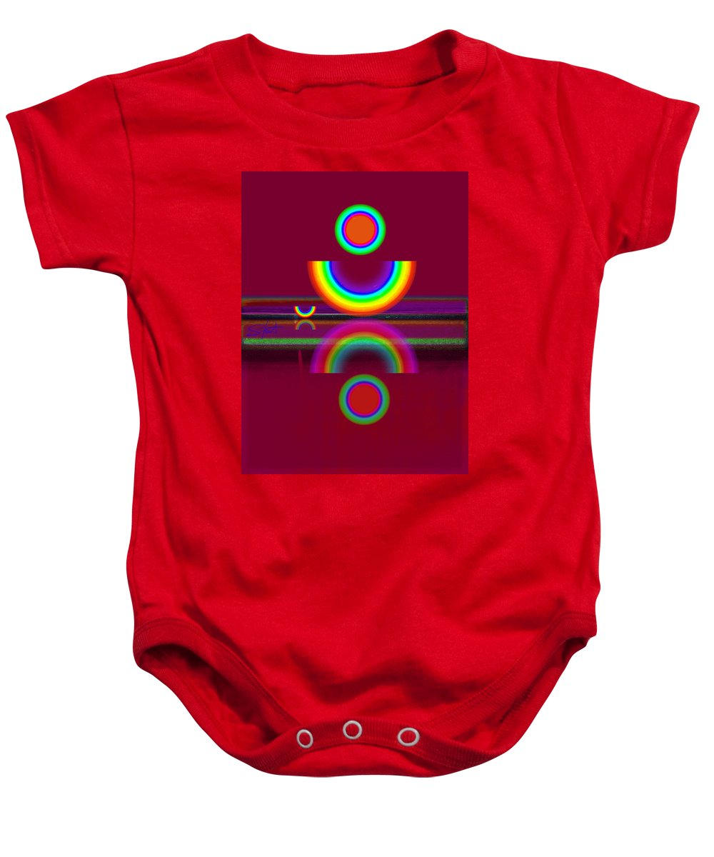 Reflections Baby Onesie featuring the painting Dark Heat by Charles Stuart