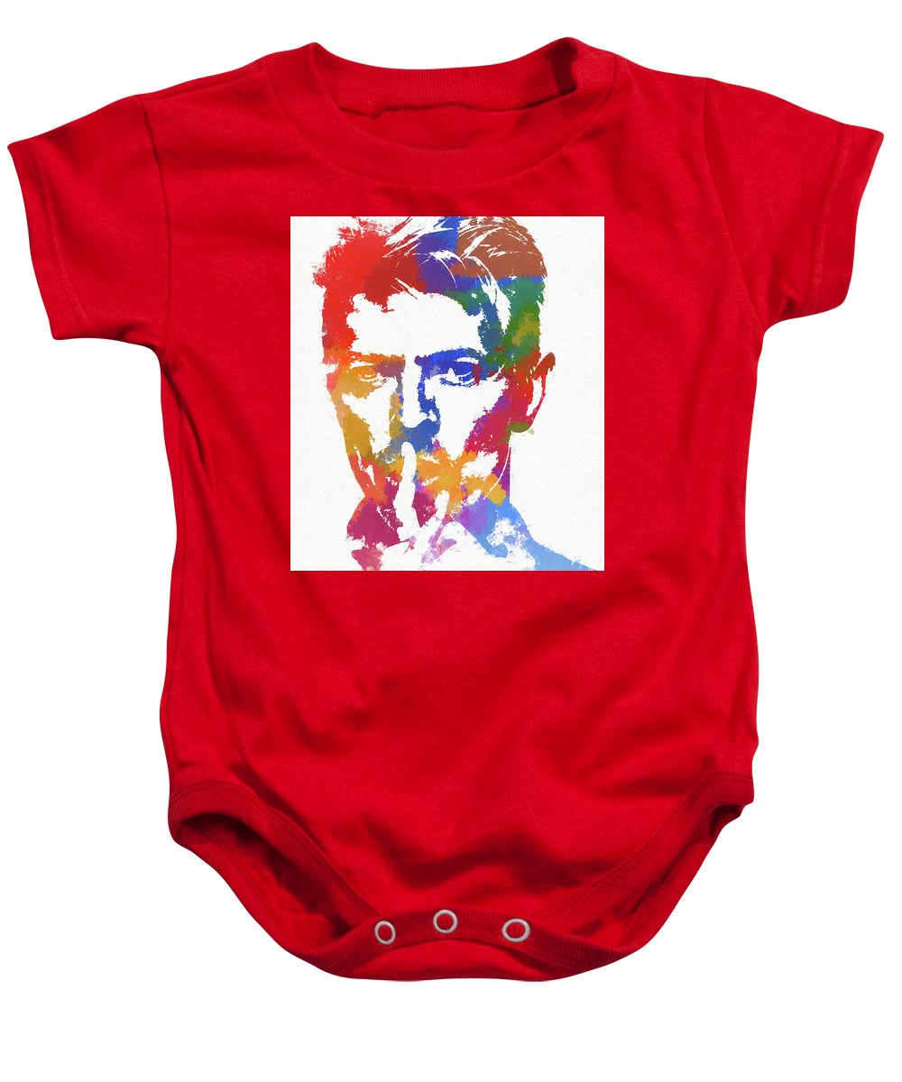 7c2c9b0f8 Bowie Reflection Baby Onesie featuring the painting David Bowie by Dan  Sproul