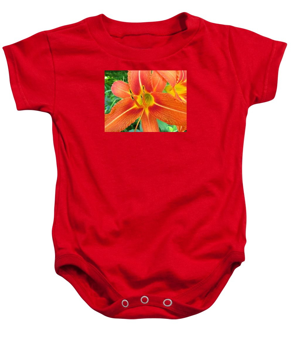 Flower Baby Onesie featuring the photograph Day Lily by Robert Nacke