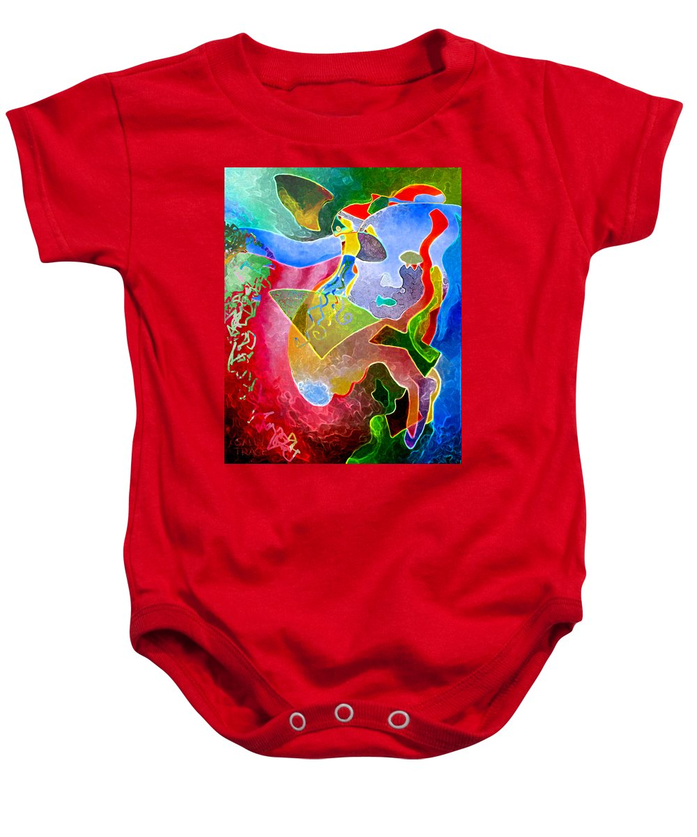 Coffee Baby Onesie featuring the painting Daydreams by Sally Trace