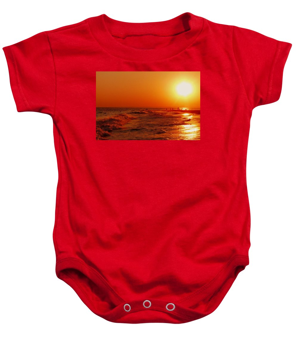 Sunset Baby Onesie featuring the photograph Day's End by Kendall Eutemey