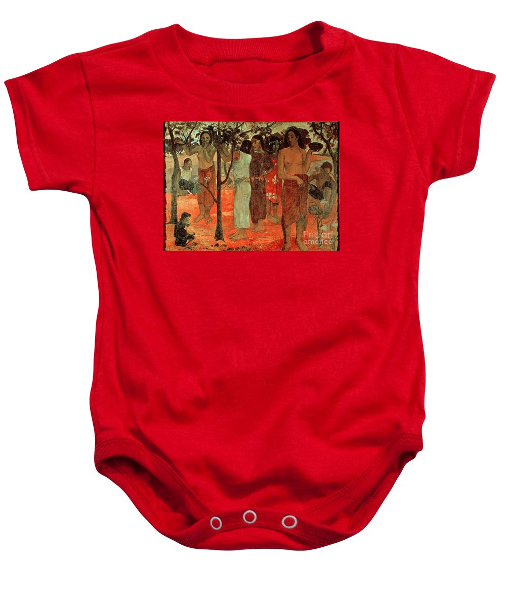 Nave Nave Mahana (delightful Days) Baby Onesie featuring the painting Delightful Days by Paul Gauguin