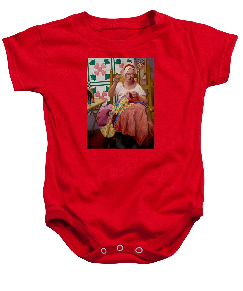 Realism Baby Onesie featuring the painting Desert Rose by Donelli DiMaria