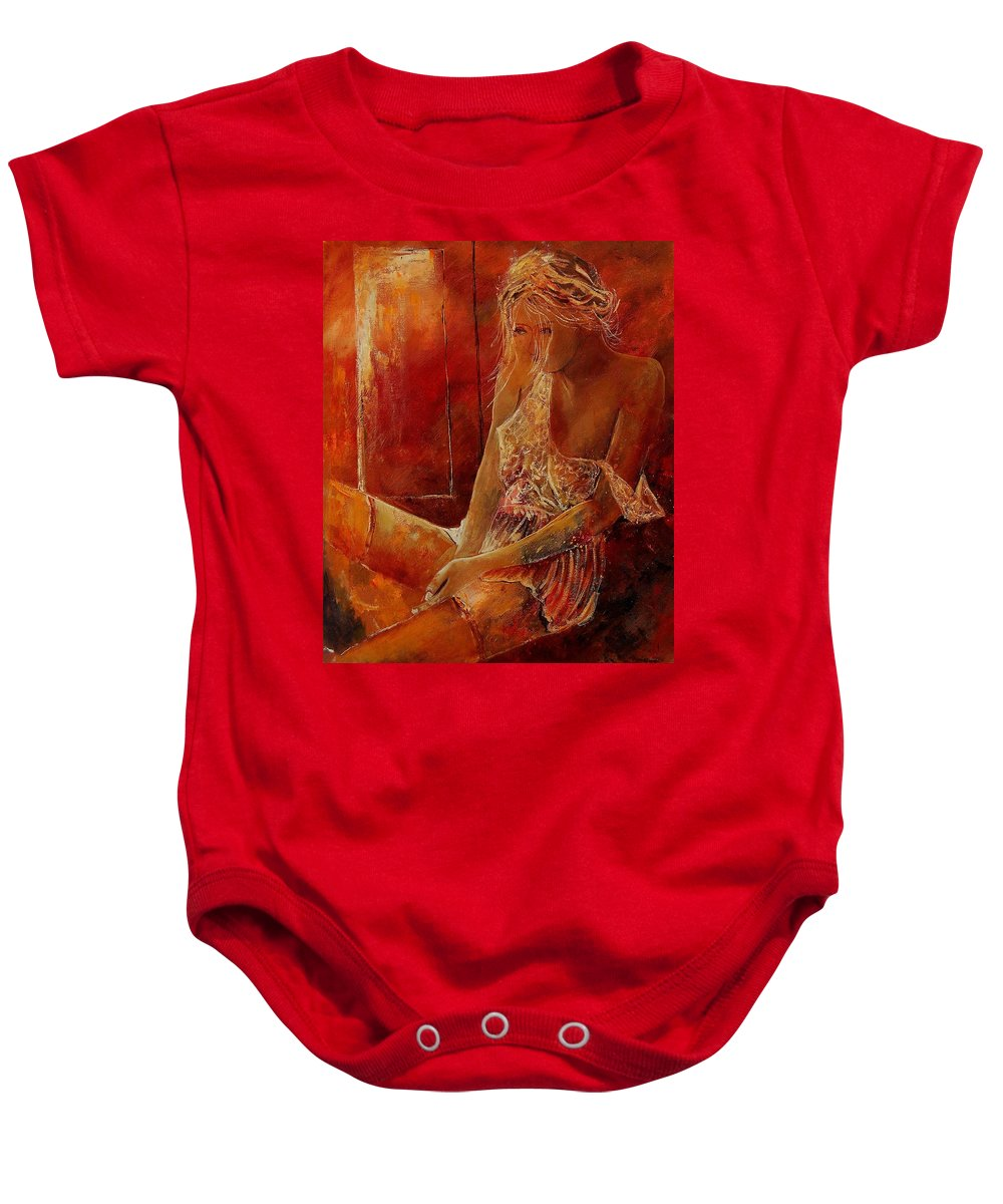 Nude Baby Onesie featuring the painting Deshabille 569002 by Pol Ledent