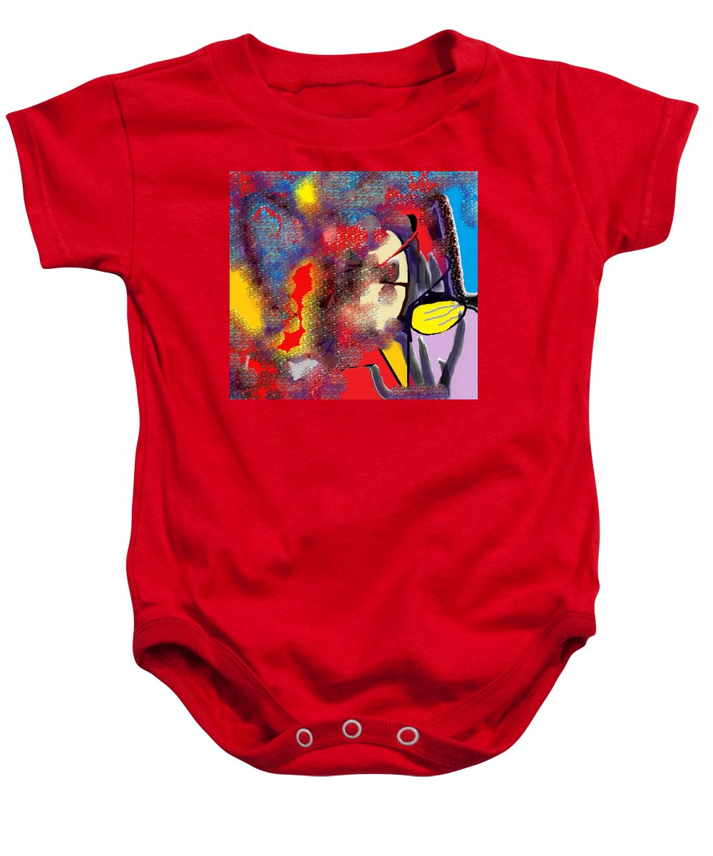 Abstract Baby Onesie featuring the digital art Destiny by Ian MacDonald