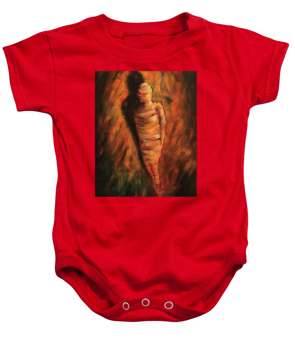 Doll Baby Onesie featuring the painting Doll by Randy Burns