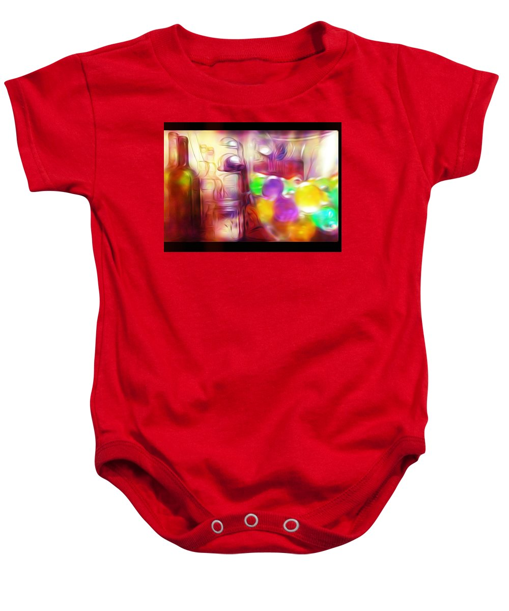 Glass Baby Onesie featuring the photograph Double Kitchen Vision by Howard Roberts