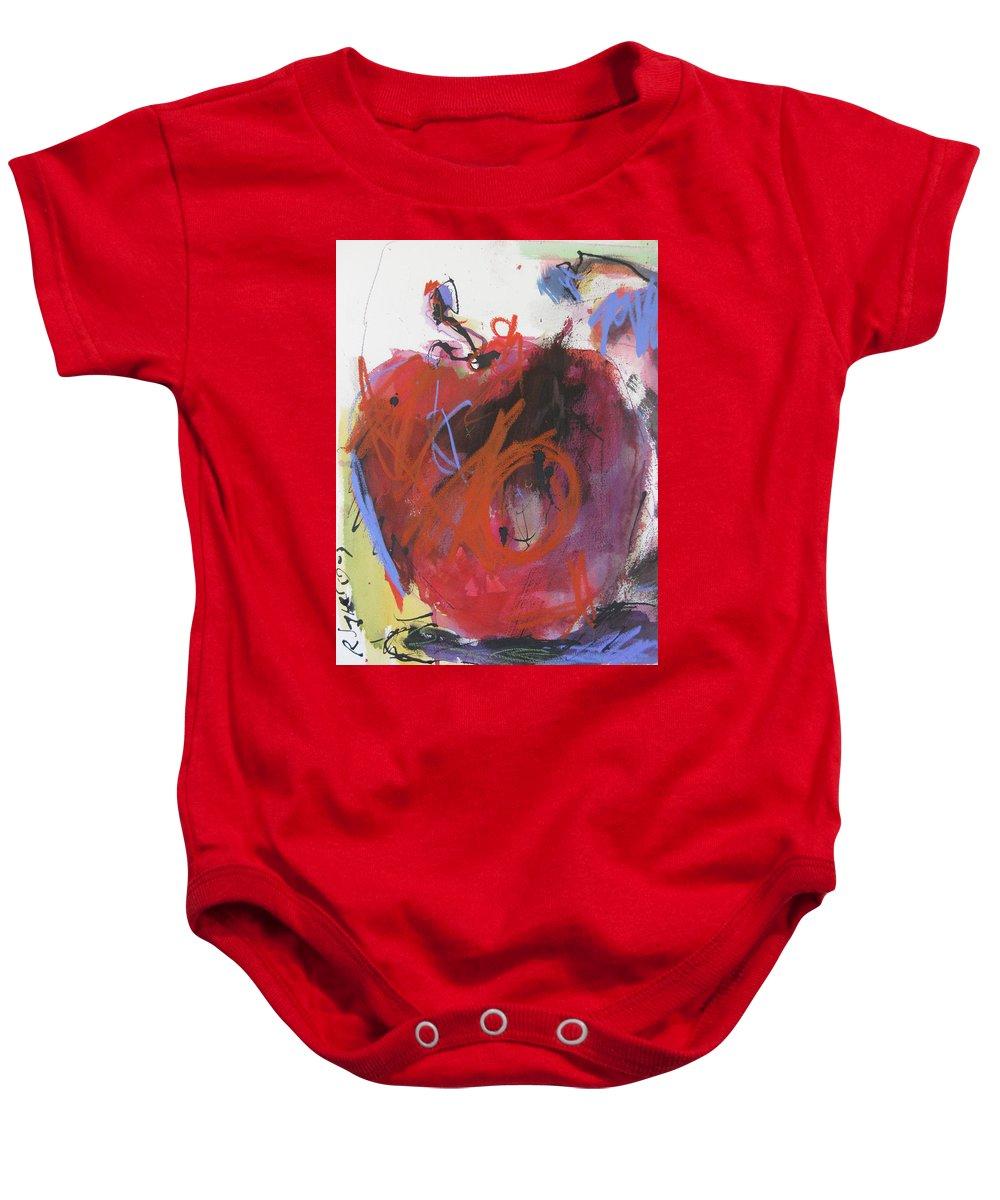Apple Baby Onesie featuring the painting Dr. Repellent by Robert Joyner