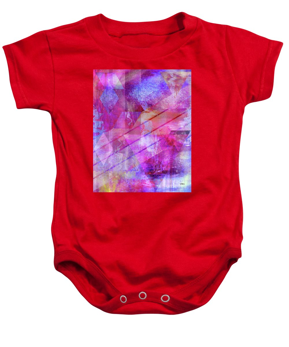 Dragon's Kiss Baby Onesie featuring the digital art Dragon's Kiss by John Beck