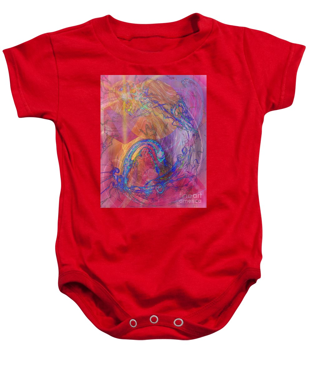 Dragon's Tale Baby Onesie featuring the digital art Dragon's Tale by John Beck