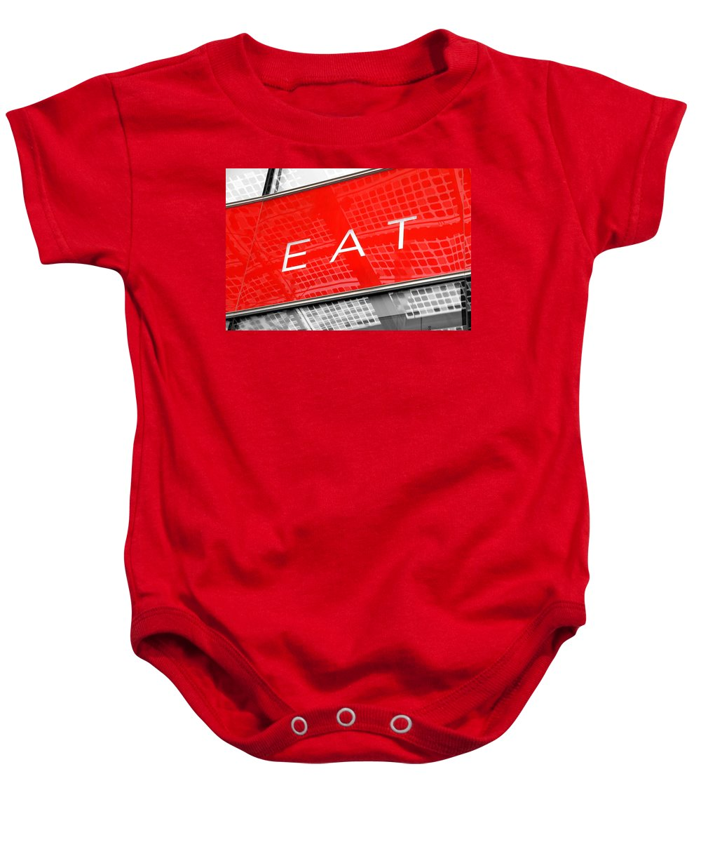 Eat Baby Onesie featuring the photograph Eat by Valentino Visentini