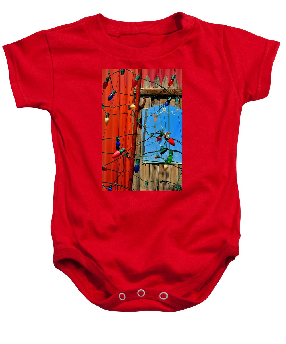 Skip Hunt Baby Onesie featuring the photograph Electric Lady Land by Skip Hunt