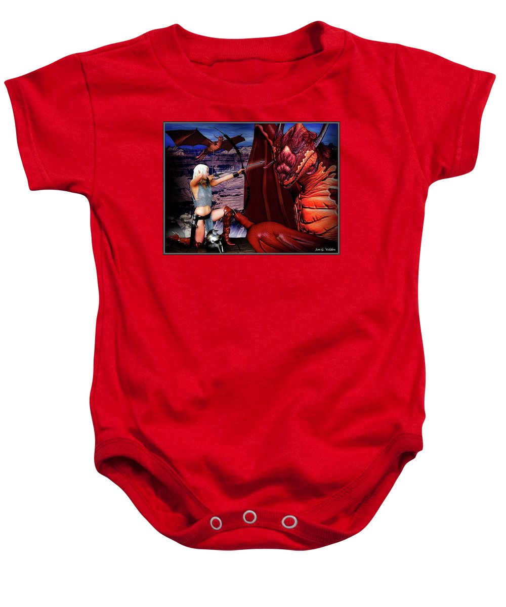 Dragon Baby Onesie featuring the photograph Elf Vs Dragon by Jon Volden