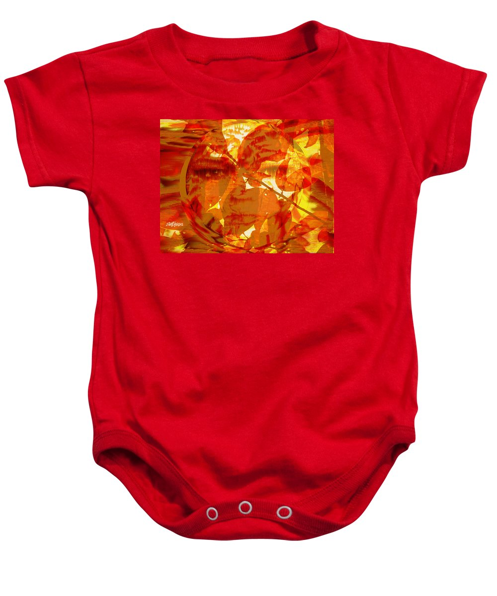 Oriental Baby Onesie featuring the digital art Empress Of The Sun by Seth Weaver