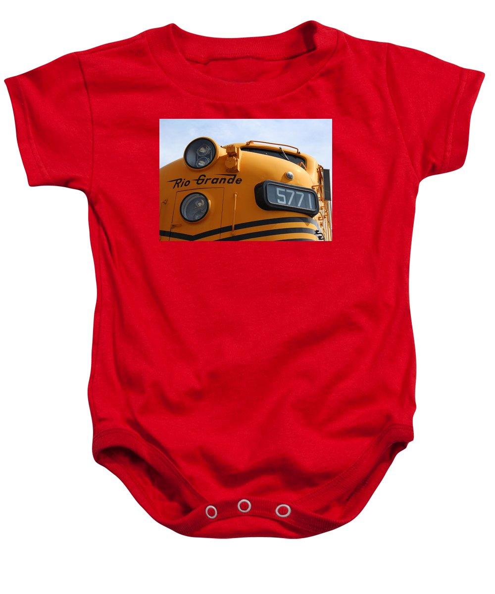 Train Baby Onesie featuring the photograph Engine 5771 by Lorraine Baum