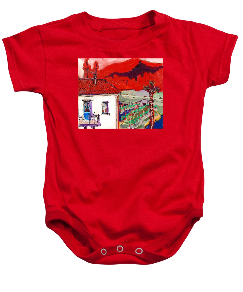 Baby Onesie featuring the painting Enrico's View by Kurt Hausmann