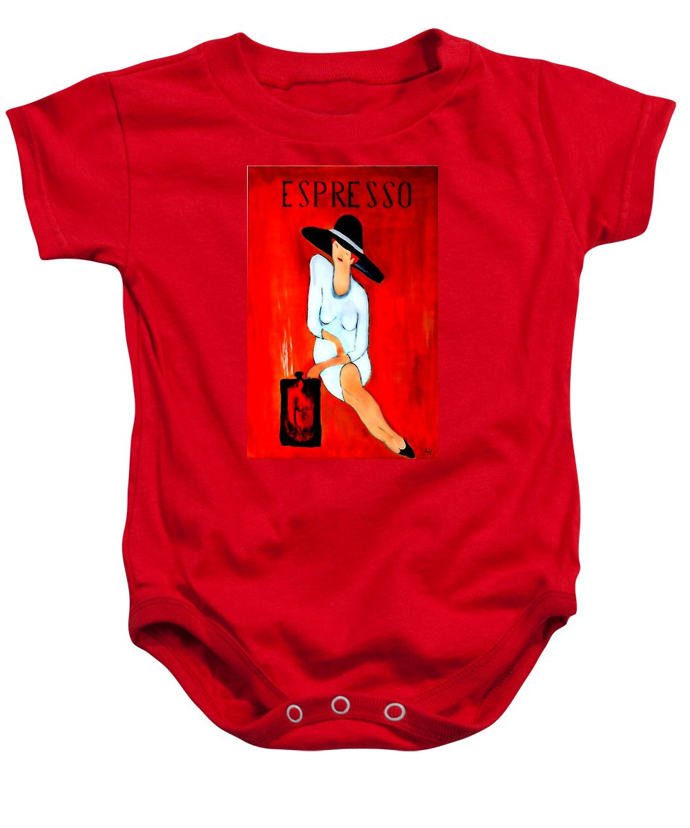 Italian Baby Onesie featuring the digital art Espresso by Helmut Rottler