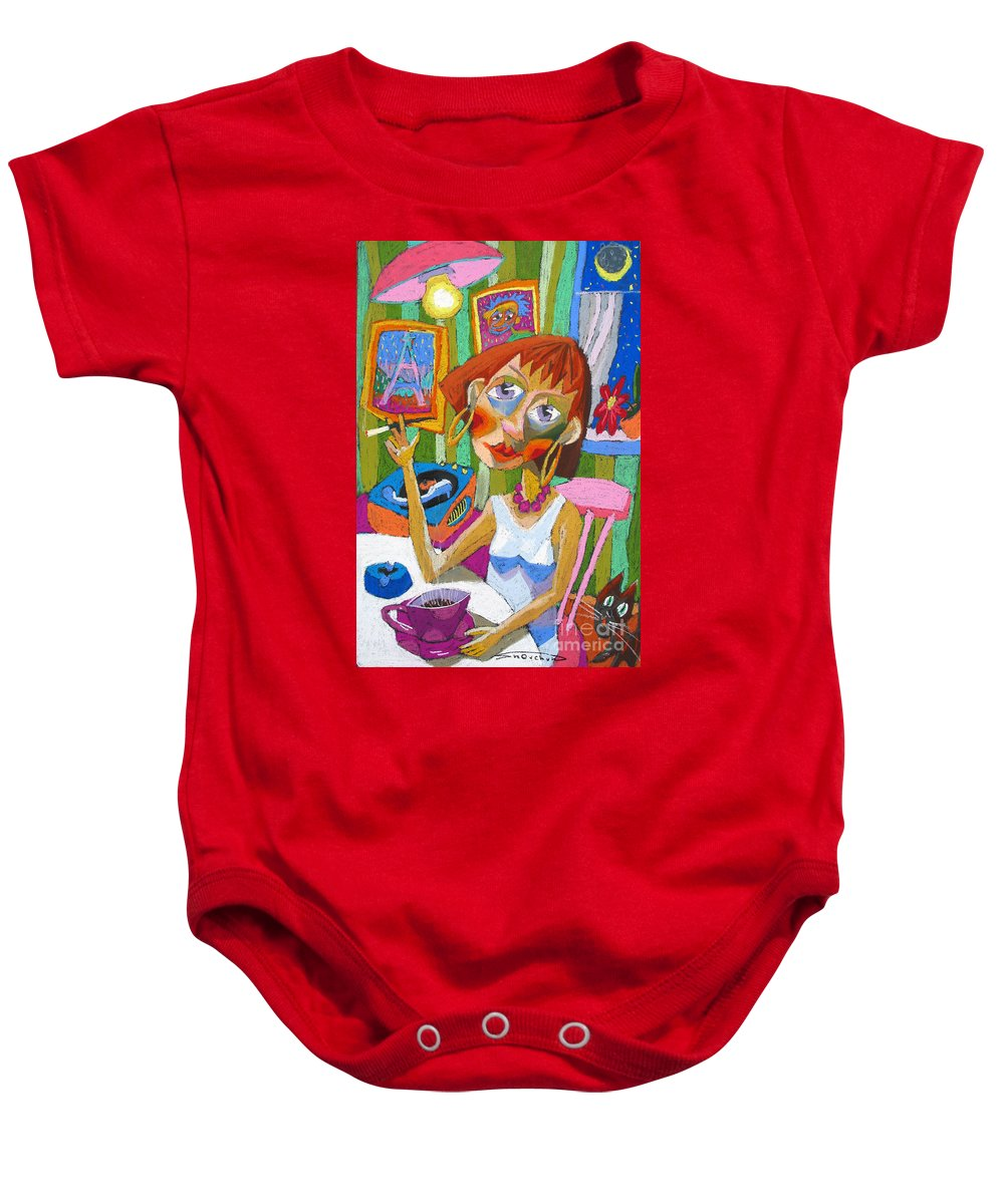 Pastel Baby Onesie featuring the painting Evening Dream by Yuriy Shevchuk