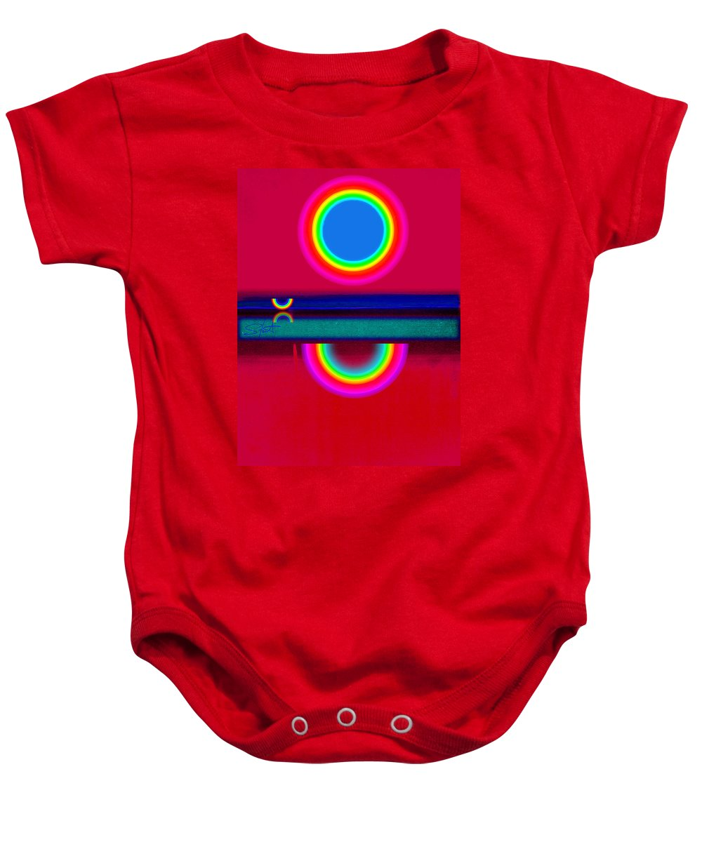 Reflections Baby Onesie featuring the painting Evening Heat by Charles Stuart