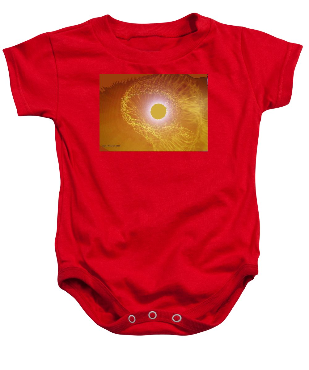 The Powerful Gaze Of The Almighty. Destroying Evil With His Almighty Sight. Baby Onesie featuring the digital art Eye Of God by Seth Weaver