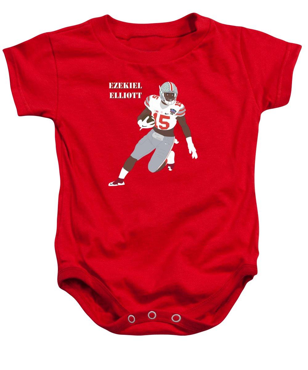 release date: 15848 41c28 Ezekiel Elliott - Ohio State Buckeyes - 2015 Baby Onesie