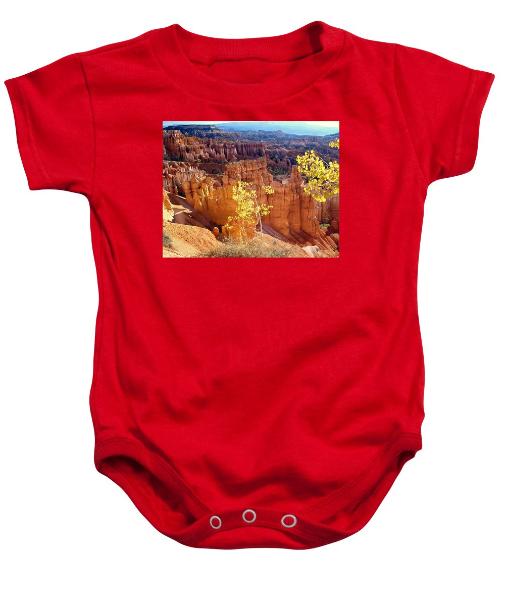 Bryce Canyon National Park Baby Onesie featuring the photograph Fall In Bryce Canyon by Marty Koch