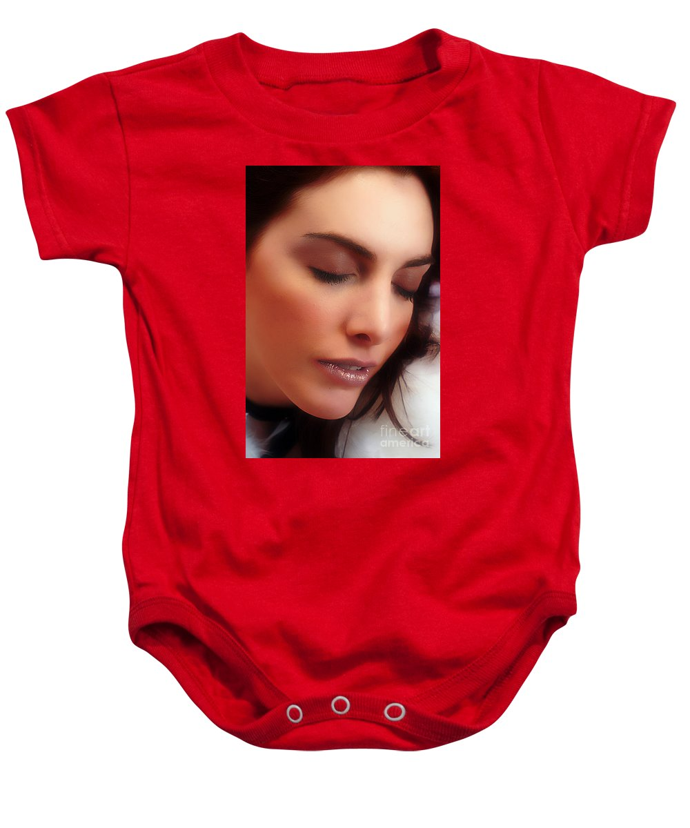 Clay Baby Onesie featuring the photograph Falling In Love by Clayton Bruster