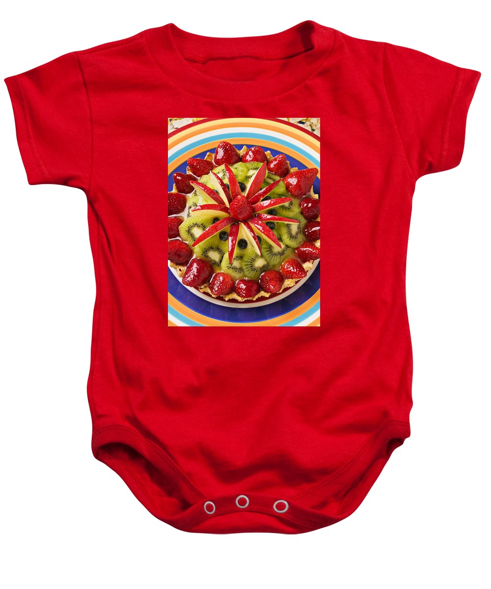 Fruit Baby Onesie featuring the photograph Fancy Tart Pie by Garry Gay