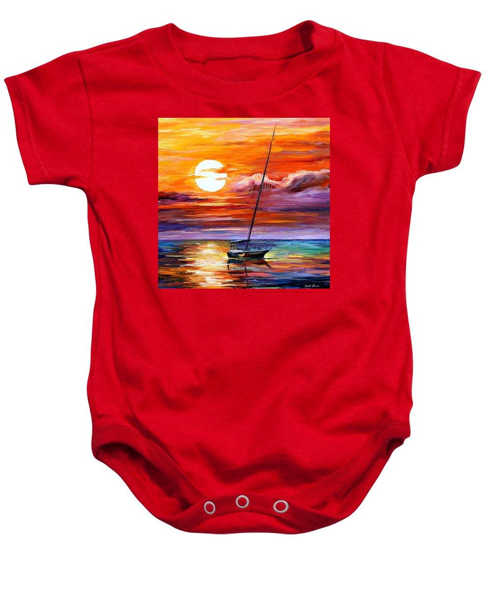 Afremov Baby Onesie featuring the painting Far And Away by Leonid Afremov