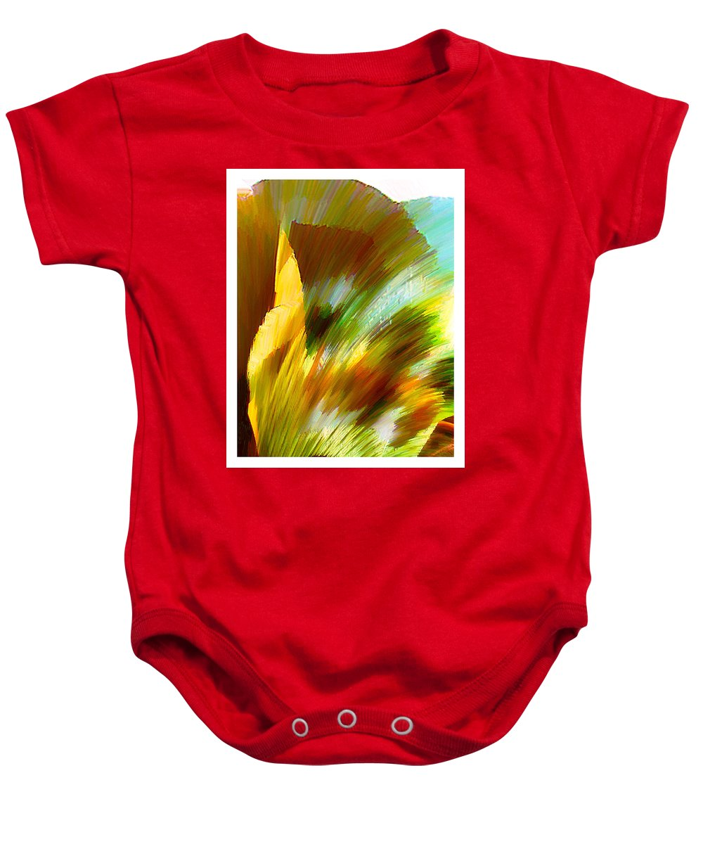 Landscape Digital Art Watercolor Water Color Mixed Media Baby Onesie featuring the digital art Feather by Anil Nene