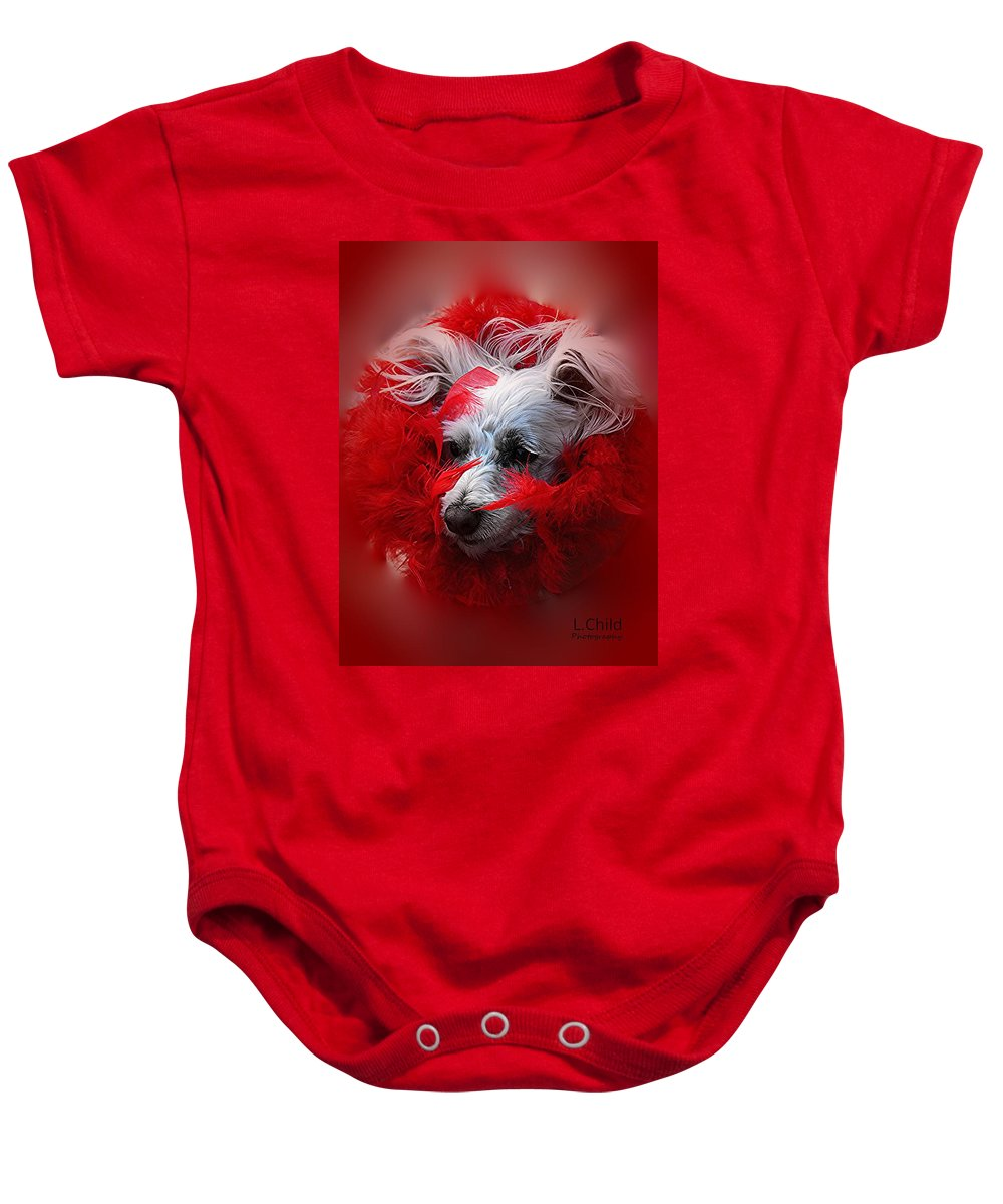 Animal Portrait Baby Onesie featuring the photograph Feathers Of Red by Lori Mahaffey