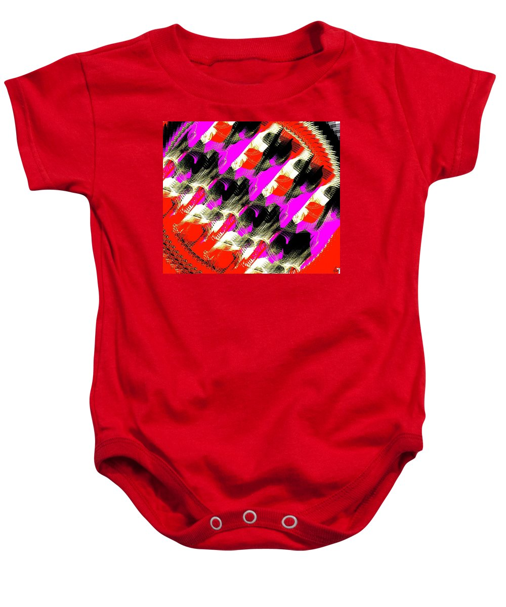 Abstract Baby Onesie featuring the digital art Feathers by Yilmar Henry