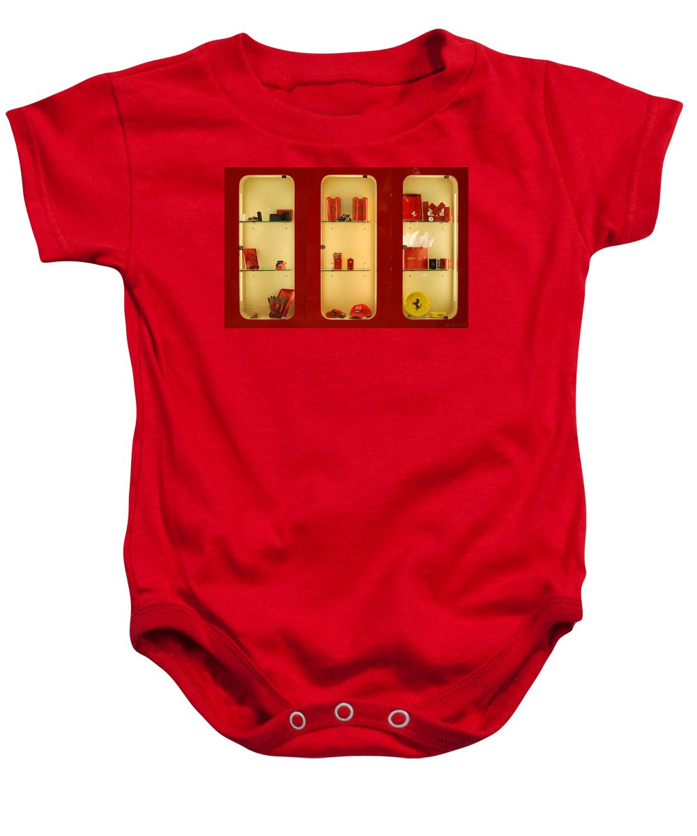 Stallions Baby Onesie featuring the photograph Ferrari Stuff by Rob Hans